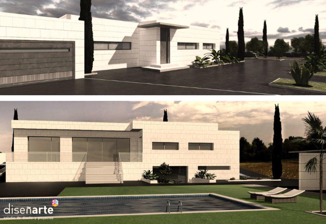Chalet minimalista dise arte 3d dise o de interiores interiorismo reformas autopromocion - Interiorismo ciudad real ...